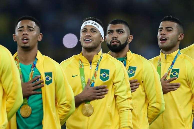 Os maiores artilheiros da Seleção Brasileiro no séc. XXI. EFE/FERNANDO BIZERRA JR