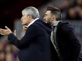 L'ancien adjoint de Setién au Barça va entraîner... le club de Piqué. EFE