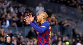 Braithwaite's contributions at Barça: eleven games, four starts and one goal. EFE