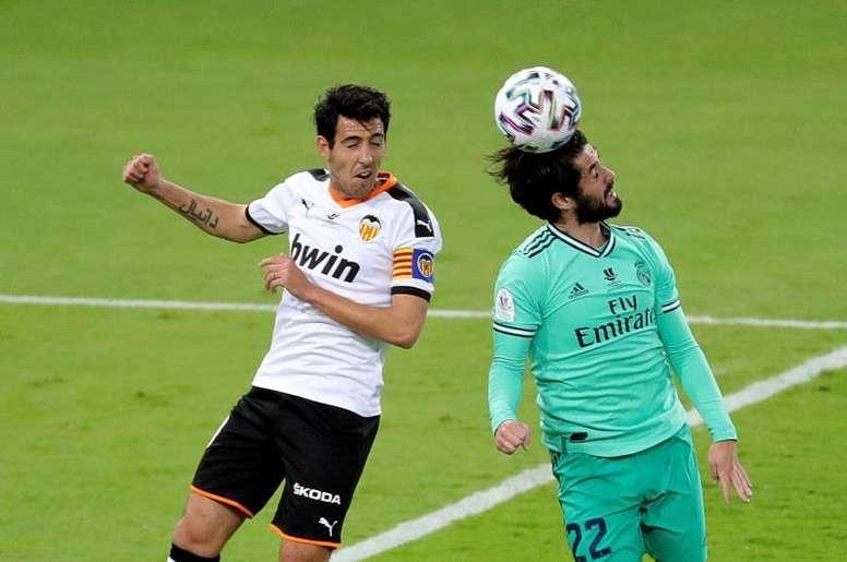 Dani Parejo, dolido por los aficionados que fueron a Milán. EFE