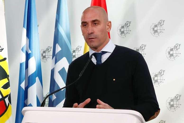 Rubiales convocará elecciones lo antes posible. EFE/RFEF