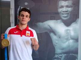 El boxeador Gabriel Escobar. EFE/ ÁNGEL DÍAZ/Archivo