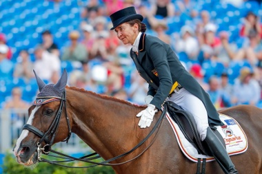 Beatriz Ferrer-Salat durante una competición. EFE/ERIK S. LESSER/Archivo