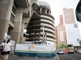 Las obras del Bernabéu se detuvieron este lunes. EFE/Archivo