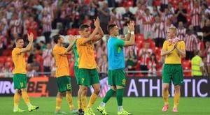 17 jogadores do MSK Zilina foram demitidos. EFE/LUIS TEJIDO