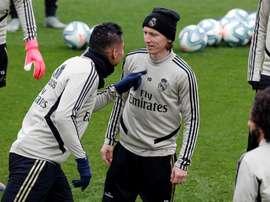 Luka Modric está suspenso da próxima partida. EFE/Chema Moya/Arquivo