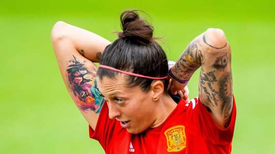 Jennifer Hermoso se convirtió en la mejor de España durante el Mundial. EFE