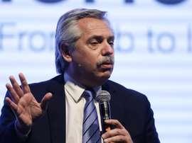 El presidente de Argentina, serio y cauto. EFE