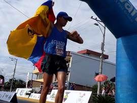 En la imagen, el marchista ecuatoriano David Hurtado. EFE/Elías Levy Benarroch/Archivo