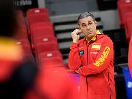 El seleccionador español, Sergio Scariolo. EFE/ Toni Galán/Archivo