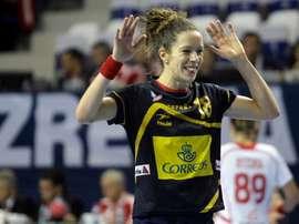 La jugadora española Begoña Fernández reacciona durante el partido del Campeonato del Mundo de balonmano que disputaron contra Polonia, en Zrenjanin, Serbia, el 9 de diciembre del 2013. EFE/Andrej Cukic/Archivo