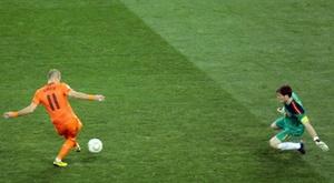Casillas destacó su célebre parada a Robben en Sudáfrica. EFE