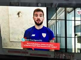 El jugador del Athletic ofreció una rueda de prensa virtual. EFE