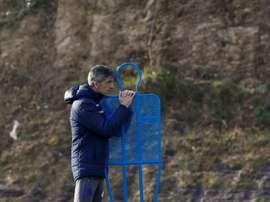 Real Sociedad voltará aos treinos na terça-feira. EFE/Juan Herrero