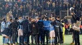El Ibiza defiende que no fue un partido, sino un entrenamiento. EFE