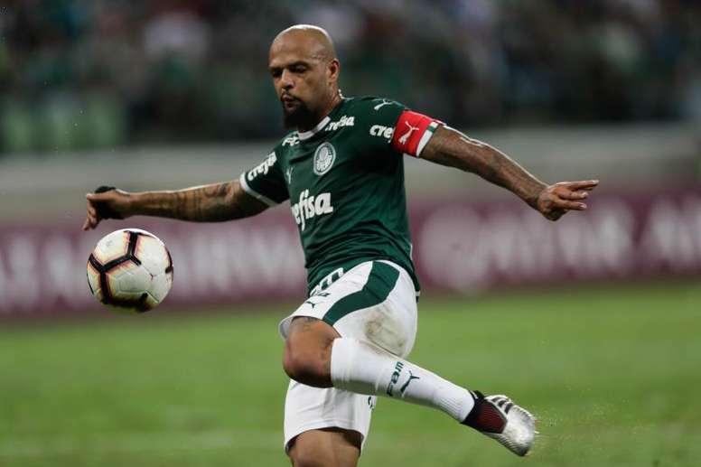 Felipe Melo sacó el mazo una vez más. EFE/Fernando Bizerra J