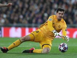 Thibaut Courtois talked to UEFA about returning from training. EFE