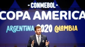 Alejandro Domínguez, presidente da Conmebol, reuniu o conselho. EFE/Luis Eduardo Noriega A/Arquivo