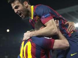 Cesc Fàbregas relembrou sua partida do Barcelona em 2014. EFE