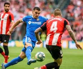 Arambarri, frustrado por no poder debutar aún con Uruguay. EFE