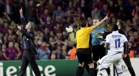 El mejor día de Mourinho en el Camp Nou. EFE