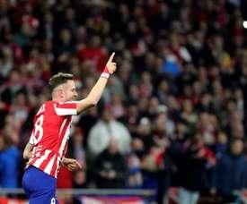 Saúl vio una amarilla y no estará ante la Real Sociedad. EFE/Juanjo Martín
