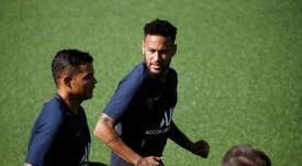 Neymar y Thiago Silva, campeones desde Brasil. EFE/Archivo