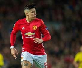 Rojo ficou fora da lista do United. EFE/Peter Powell