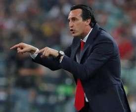 Emery treinaria o Athletic Bilbao. EFE/YURI KOCHETKOV
