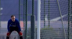 Marc-André ter Stegen deverá permanecer por mais cinco temporadas. EFE/ Enric Fontcuberta/Arquivo
