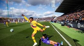 Moussa Wagué é reforço para a lateral direita do PAOK. EFE/Rodrigo Jiménez/Arquivo