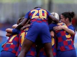 El Barça será el campeón tras darse por finalizada la Liga Iberdrola. EFE/Archivo