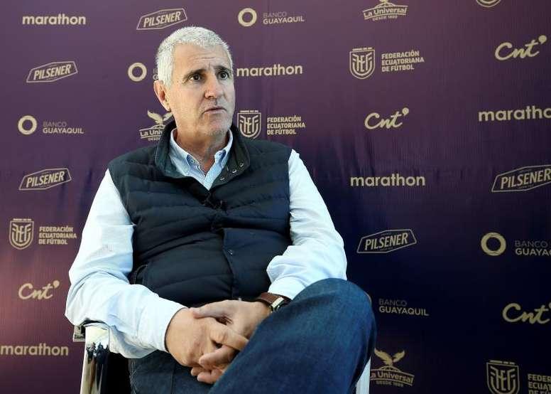 El director deportivo del Betis dio alas al proyecto. EFE/José Jácome
