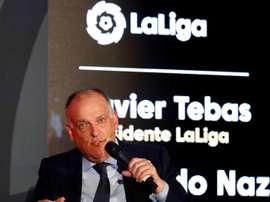 Javier Tebas, presidente da LaLiga. EFE/Jorge Núñez/Arquivo