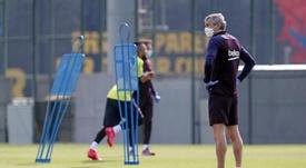 Setién insiste pour la Ligue des Champions et ouvre la porte à Neymar. EFE/FCBarcelona