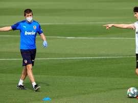 Valencia volta a treinar. EFE/ Valencia Cf