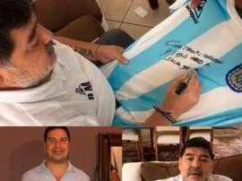 Locura por una camiseta de Maradona. EFE