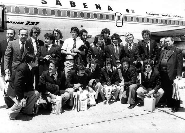 El Valencia ganó la Recopa en 1980. EFE