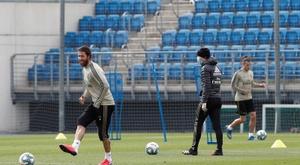 Real Madrid volta a ter treinamento unificado. EFE/LaLiga
