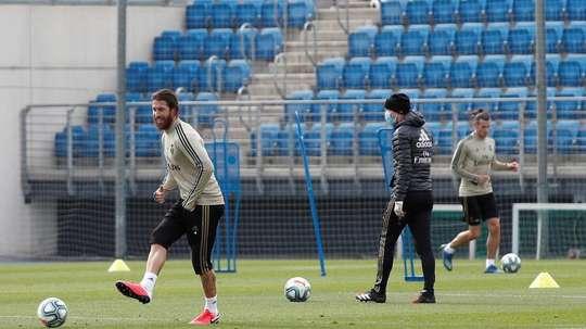 Zidane quer o grupo inteiro para avançar nos treinos. EFE/LaLiga