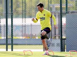 Messi trained individually. EFE