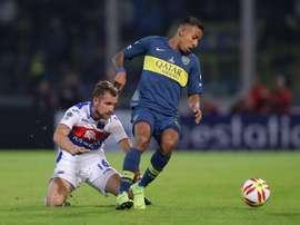 Boca, atento a la situación de Sebastián Villa. EFE