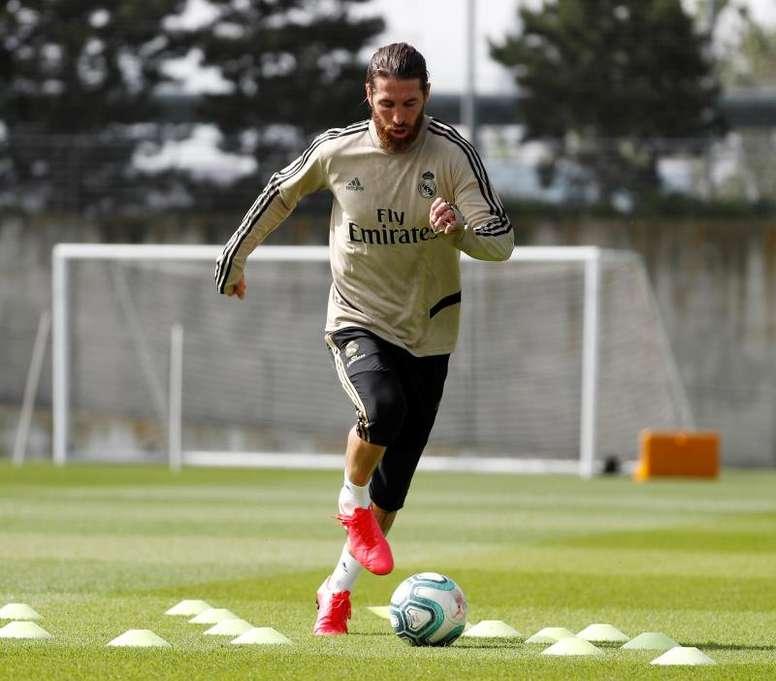 Real Madrid intensificou os trabalhos para concluir a semana. EFE/ Real Madrid
