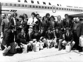 El Valencia se proclamó campeón de la Recopa en 1980. EFE/Archivo