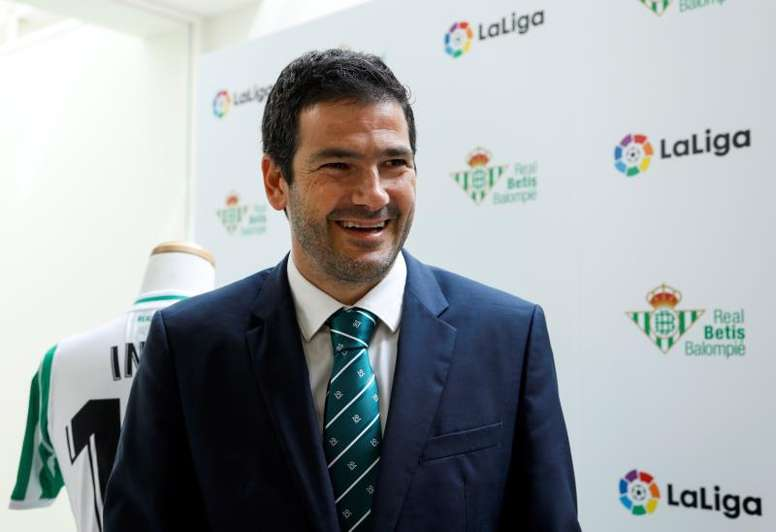 Ramón Alarcón analizó la situación financiera del Betis. EFE