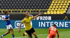 Reprise en fanfare pour le Borussia. Goal