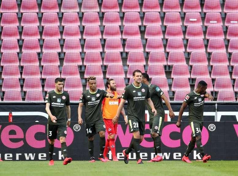 Köln y Mainz 05 igualaron a dos tantos. EFE