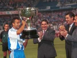 El Deportivo por fin se llevó la Liga hace 20 años. AFP