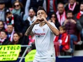 Lucas Ocampos, le héros d'un derby. EFE