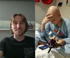 Le très beau geste de Modric pour un enfant malade. EFE